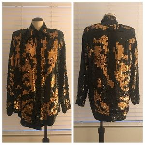 Vintage Sequined Tunic